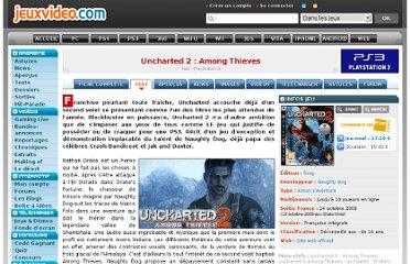 http://www.jeuxvideo.com/articles/0001/00011530-uncharted-2-among-thieves-test.htm