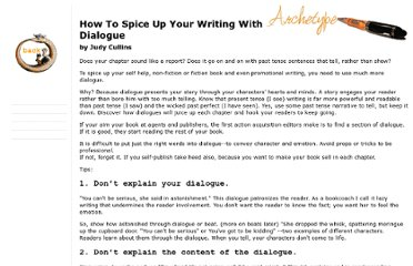 http://www.archetypewriting.com/articles/writing/spiceUpWdialogue.htm