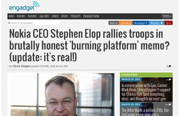 http://www.engadget.com/2011/02/08/nokia-ceo-stephen-elop-rallies-troops-in-brutally-honest-burnin/
