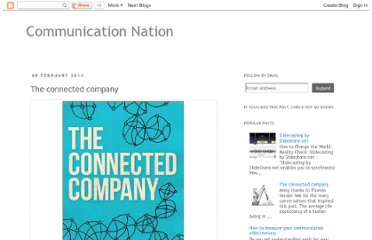 http://communicationnation.blogspot.com/2011/02/connected-company.html