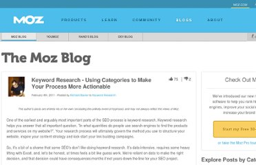 http://www.seomoz.org/blog/keyword-research-using-categories
