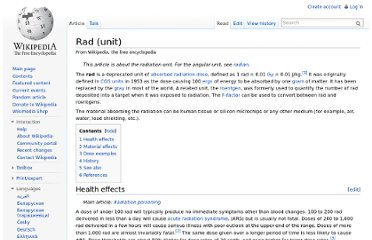 http://en.wikipedia.org/wiki/Rad_(unit)