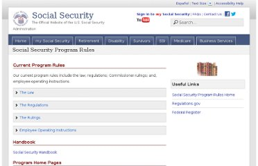 http://www.ssa.gov/regulations/index.htm
