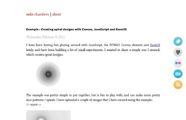 http://www.mikechambers.com/blog/2011/02/09/example-creating-spirals-designs-with-canvas-and-easeljs/