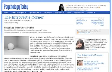 http://www.psychologytoday.com/blog/the-introverts-corner/201102/mistakes-introverts-make