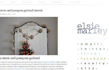http://www.elsiemarley.com/straw-and-pompom-garland-tutorial.html