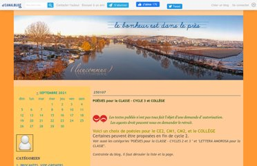 http://lieucommun.canalblog.com/archives/_poesies_pour_la_classe___cycle_3_et_college/index.html