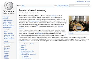 http://en.wikipedia.org/wiki/Problem-based_learning