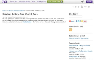 http://blog.teachtci.com/updated-guide-to-free-web-2-0-tools
