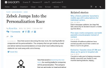 http://gigaom.com/2010/11/18/zebek-jumps-into-the-personalization-race/