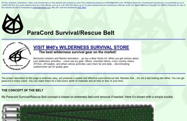 http://www.m4040.com/Survival/Projects/Rescue%20Belt/RescueBelt.htm