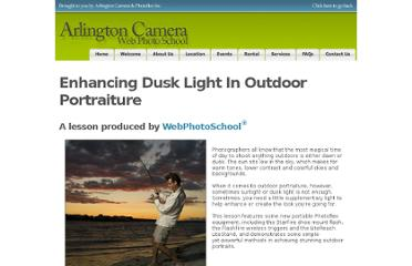 http://arlingtoncamera.webphotoschool.com/Enhancing_Dusk_Light_In_Outdoor_Portraiture/index.html
