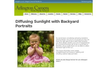 http://arlingtoncamera.webphotoschool.com/Diffusing_Sunlight_with_Backyard_Portraits/index.html