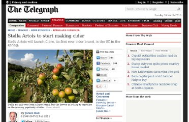 http://www.telegraph.co.uk/finance/newsbysector/retailandconsumer/8297036/Stella-Artois-to-start-making-cider.html
