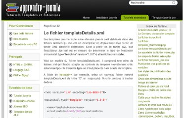 http://www.apprendre-joomla.com/creation-template-5.html