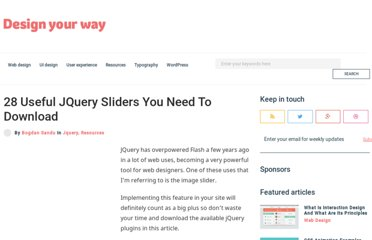 http://www.designyourway.net/blog/resources/28-useful-jquery-sliders-you-need-to-download/
