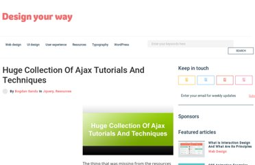 http://www.designyourway.net/blog/resources/huge-collection-of-ajax-tutorials-and-techniques/