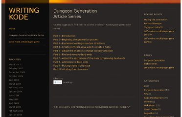 http://dirkkok.wordpress.com/dungeon-generation-article-series/