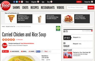 http://www.foodnetwork.com/recipes/curried-chicken-and-rice-soup-recipe/index.html