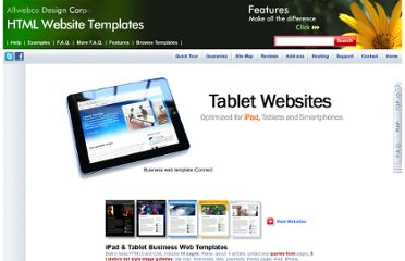 http://allwebcodesign.com/website-templates/iPad-web-templates.htm
