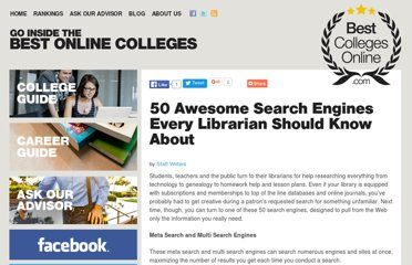 http://www.bestcollegesonline.com/blog/2008/07/22/50-awesome-search-engines-every-librarian-should-know-about/