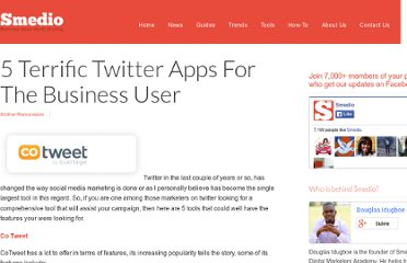 http://smedio.com/2011/02/10/5-terrific-twitter-apps-for-the-business-user/