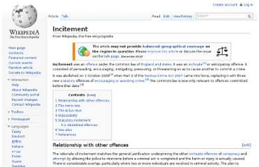http://en.wikipedia.org/wiki/Incitement