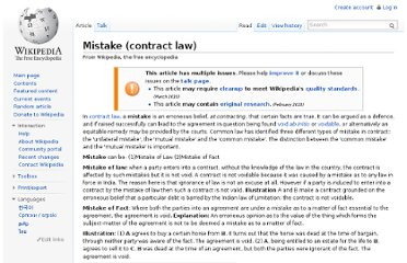 http://en.wikipedia.org/wiki/Mistake_(contract_law)