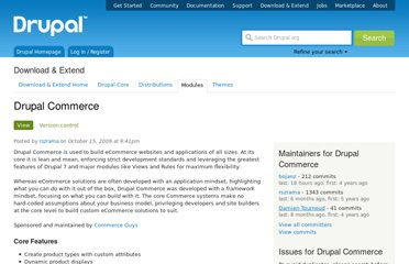 http://drupal.org/project/commerce