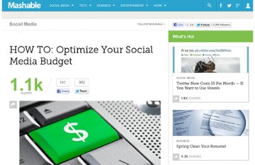 http://mashable.com/2011/02/10/optimize-social-media-budget/