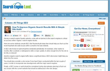 http://searchengineland.com/how-to-improve-organic-search-results-with-a-simple-site-audit-63696