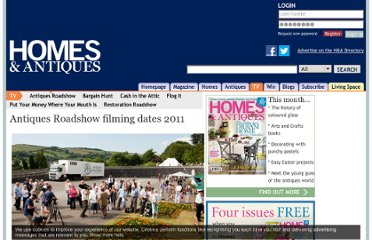 http://www.homesandantiques.com/feature/antiques-roadshow-filming-dates-2011