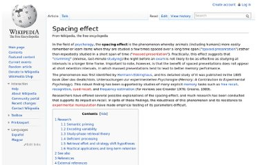 http://en.wikipedia.org/wiki/Spacing_effect