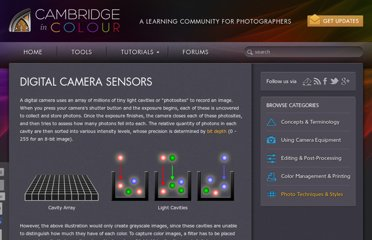 http://www.cambridgeincolour.com/tutorials/camera-sensors.htm
