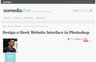 http://www.gomediazine.com/tutorials/design-a-sleek-website-interface-in-photoshop/