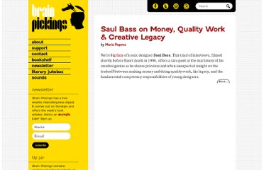 http://www.brainpickings.org/index.php/2011/02/10/saul-bass-interview/