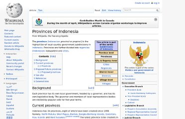 http://en.wikipedia.org/wiki/Provinces_of_Indonesia