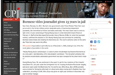 http://cpj.org/2011/02/burmese-video-journalist-given-13-years-in-jail.php