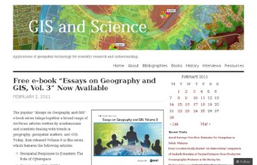 http://gisandscience.com/2011/02/02/free-e-book-essays-on-geography-and-gis-vol-3%e2%80%9d-now-available/