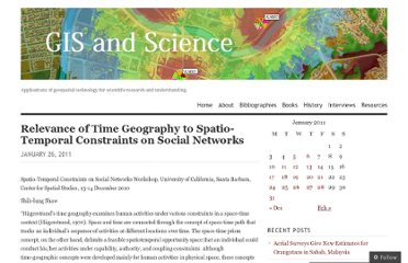 http://gisandscience.com/2011/01/26/relevance-of-time-geography-to-spatio-temporal-constraints-on-social-networks/