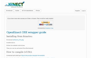 http://www.as3kinect.org/guides/openkinect-wrapper-guide/