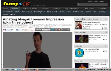 http://www.funnyordie.com/videos/c6adf58f45/amazing-morgan-freeman-impression-plus-three-others
