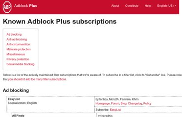 http://adblockplus.org/en/subscriptions
