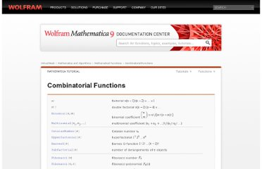 http://reference.wolfram.com/mathematica/tutorial/CombinatorialFunctions.html