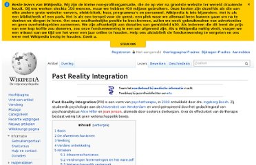 http://nl.wikipedia.org/wiki/Past_Reality_Integration