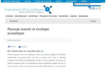 http://www.implications-philosophiques.org/implications-de-la-perception/paysage-sonore-et-ecologie-acoustique/