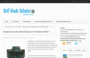 http://selfmadescholar.com/b/2009/05/11/introduction-to-the-great-books-of-the-western-world/