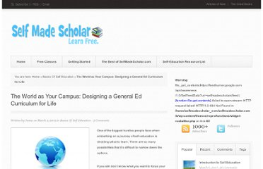 http://selfmadescholar.com/b/2009/03/09/the-world-as-your-campus-designing-a-general-ed-curriculum-for-life/