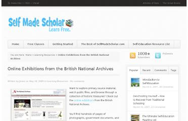 http://selfmadescholar.com/b/2009/05/18/online-exhibitions-from-the-british-national-archives/