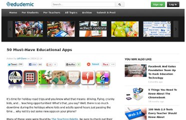 http://edudemic.com/2010/12/50-apps/